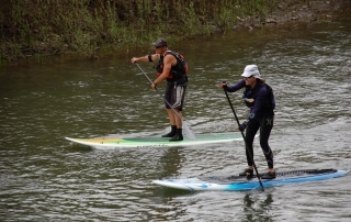 Valerie and Michael SUP on the Russian River