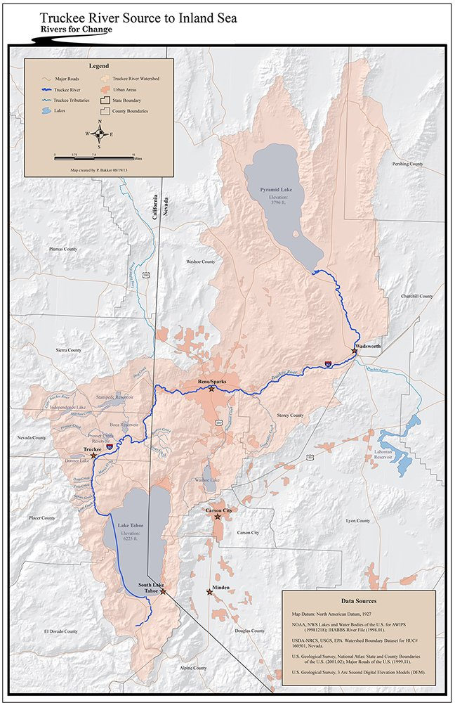 Rivers For Change Truckee River - Map of reno and lake tahoe