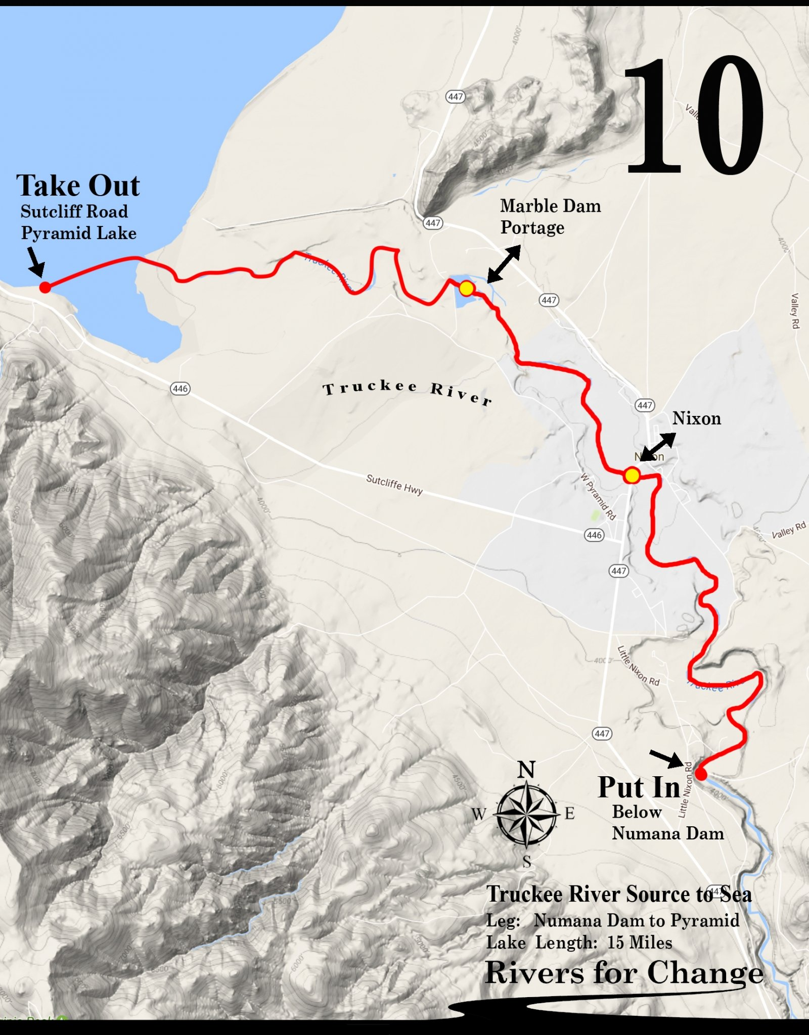 , 2018 Upper Truckee River Route, Rivers For Change